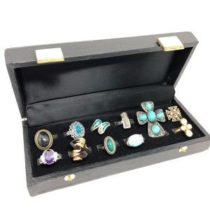 🆕Vintage Ring Box with 11 Vintage to Now Rings